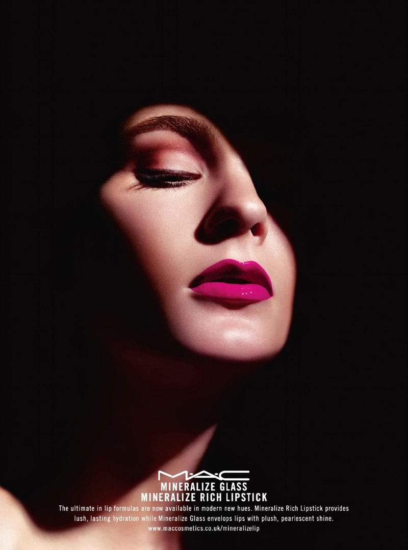 Irina Kulikova Gets Glossy in MAC Cosmetics' Mineralize Ads