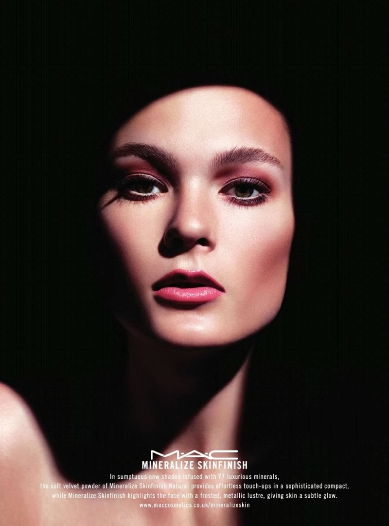 Irina Kulikova Gets Glossy in MAC Cosmetics' Mineralize Ads