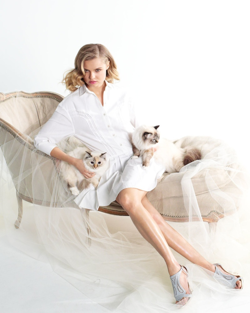 Magdalena Frackowiak is Feline Chic in Neiman Marcus Feature