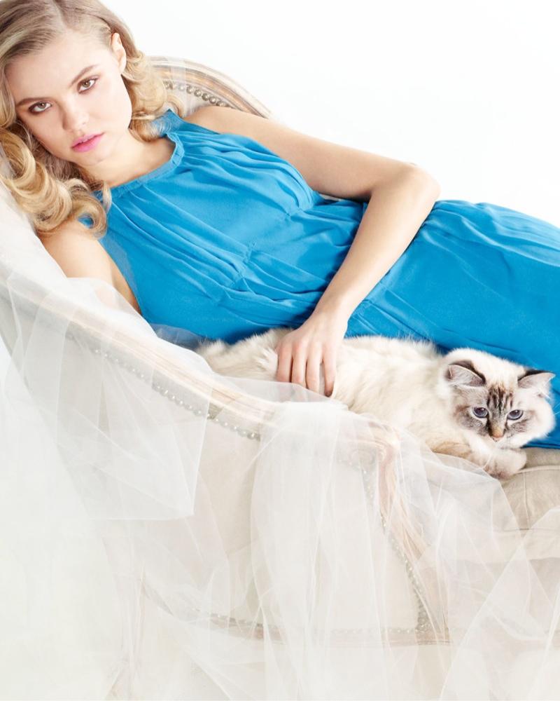 magdalena frackowiak neiman marcus nina ricci2 Magdalena Frackowiak is Feline Chic in Neiman Marcus Feature