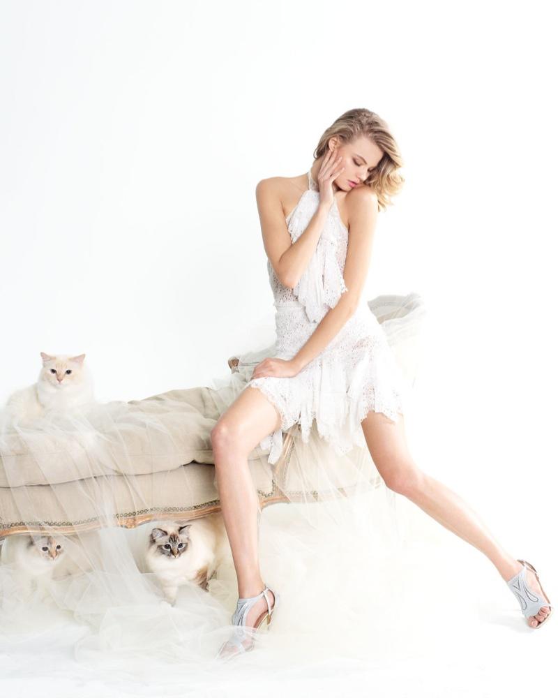 magdalena frackowiak neiman marcus nina ricci5 Magdalena Frackowiak is Feline Chic in Neiman Marcus Feature