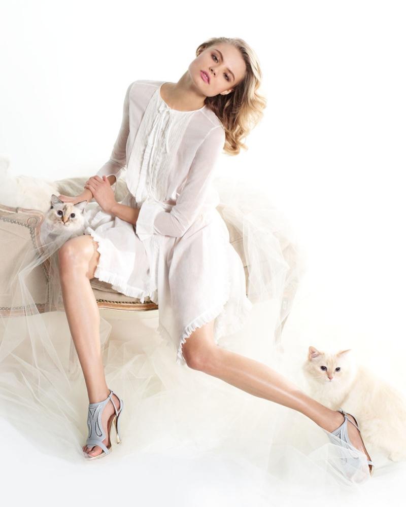 magdalena frackowiak neiman marcus nina ricci6 Magdalena Frackowiak is Feline Chic in Neiman Marcus Feature