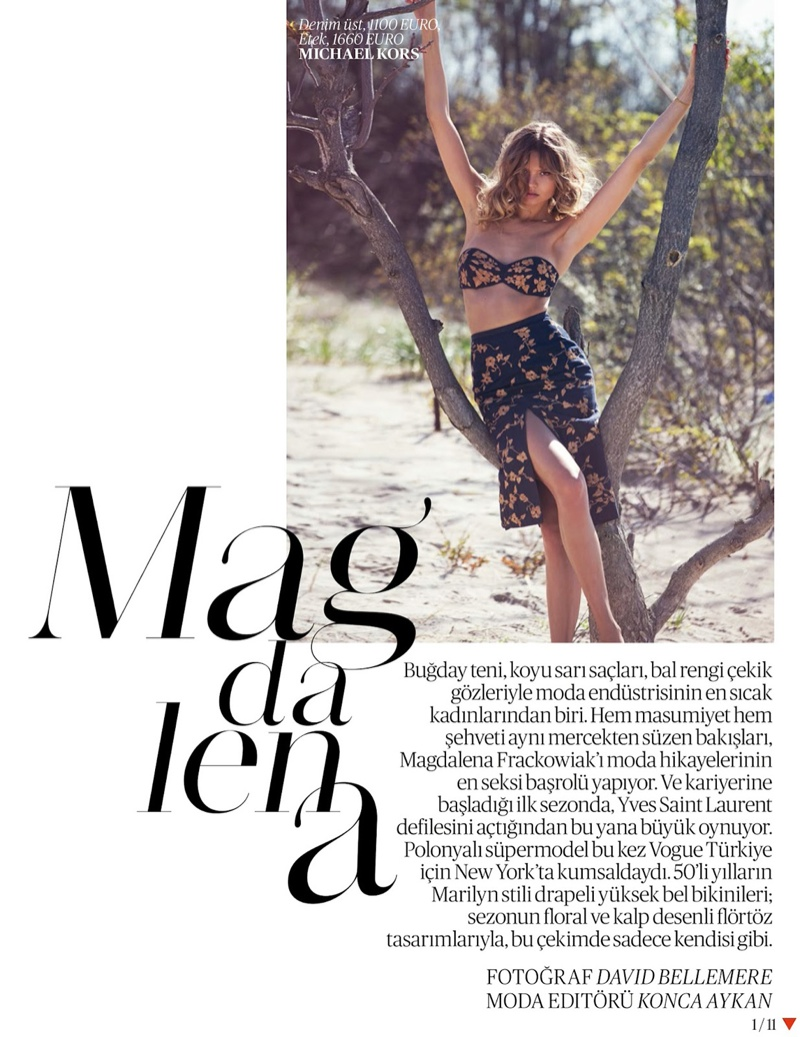 magdalena frackowiak swimsuit shoot1 Magdalena Frackowiak Poses for David Bellemere in Swimsuit Shoot for Vogue Turkey