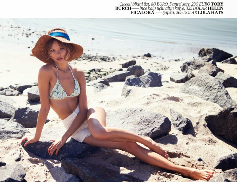 magdalena frackowiak swimsuit shoot10 Magdalena Frackowiak Poses for David Bellemere in Swimsuit Shoot for Vogue Turkey