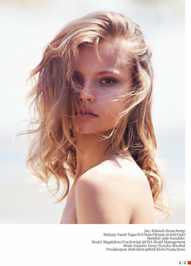 magdalena frackowiak swimsuit shoot12 Magdalena Frackowiak Poses for David Bellemere in Swimsuit Shoot for Vogue Turkey