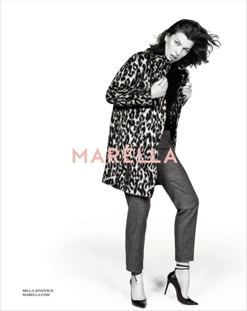 marella fall winter 2014 campaign milla jovovich2 Milla Jovovich Gets Arty for Marella's Fall 2014 Campaign