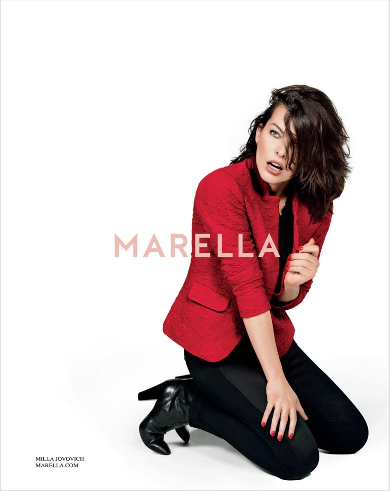 marella fall winter 2014 campaign milla jovovich3 Milla Jovovich Gets Arty for Marella's Fall 2014 Campaign