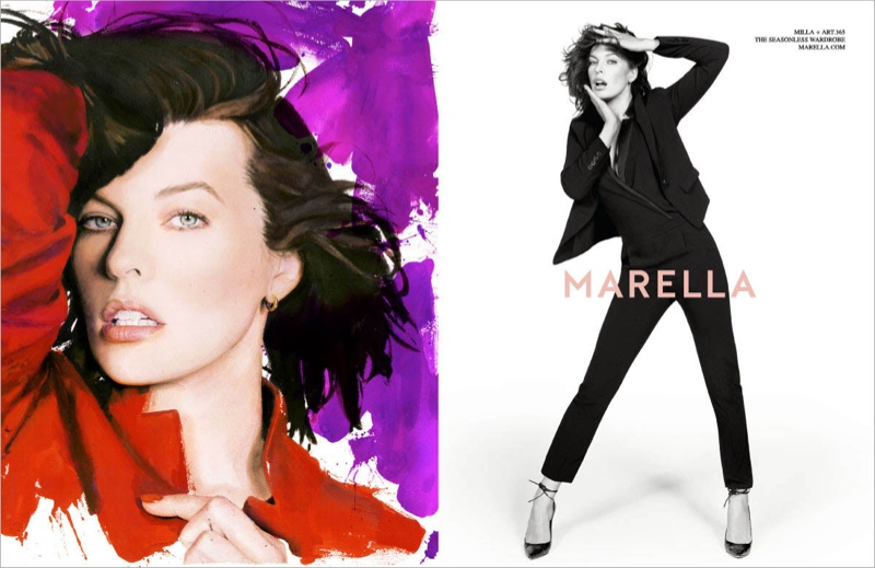 marella fall winter 2014 campaign milla jovovich4 Milla Jovovich Gets Arty for Marella's Fall 2014 Campaign