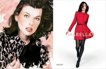 Milla Jovovich Gets Arty for Marella's Fall 2014 Campaign