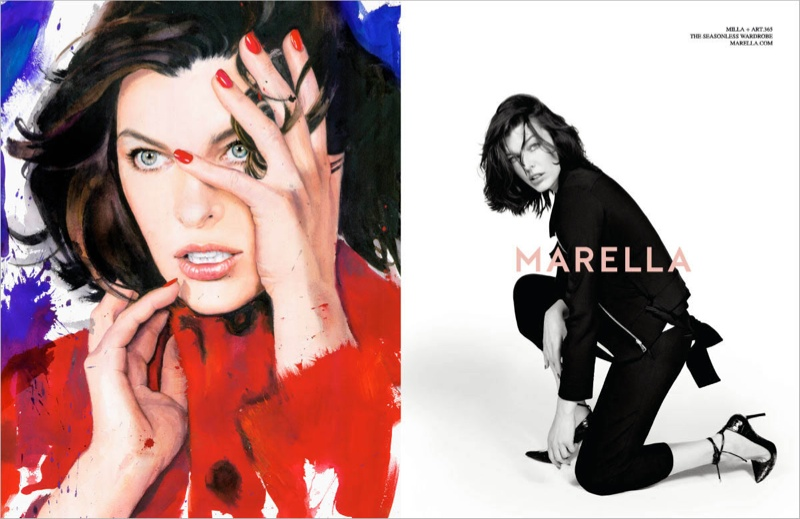 marella fall winter 2014 campaign milla jovovich6 Milla Jovovich Gets Arty for Marella's Fall 2014 Campaign