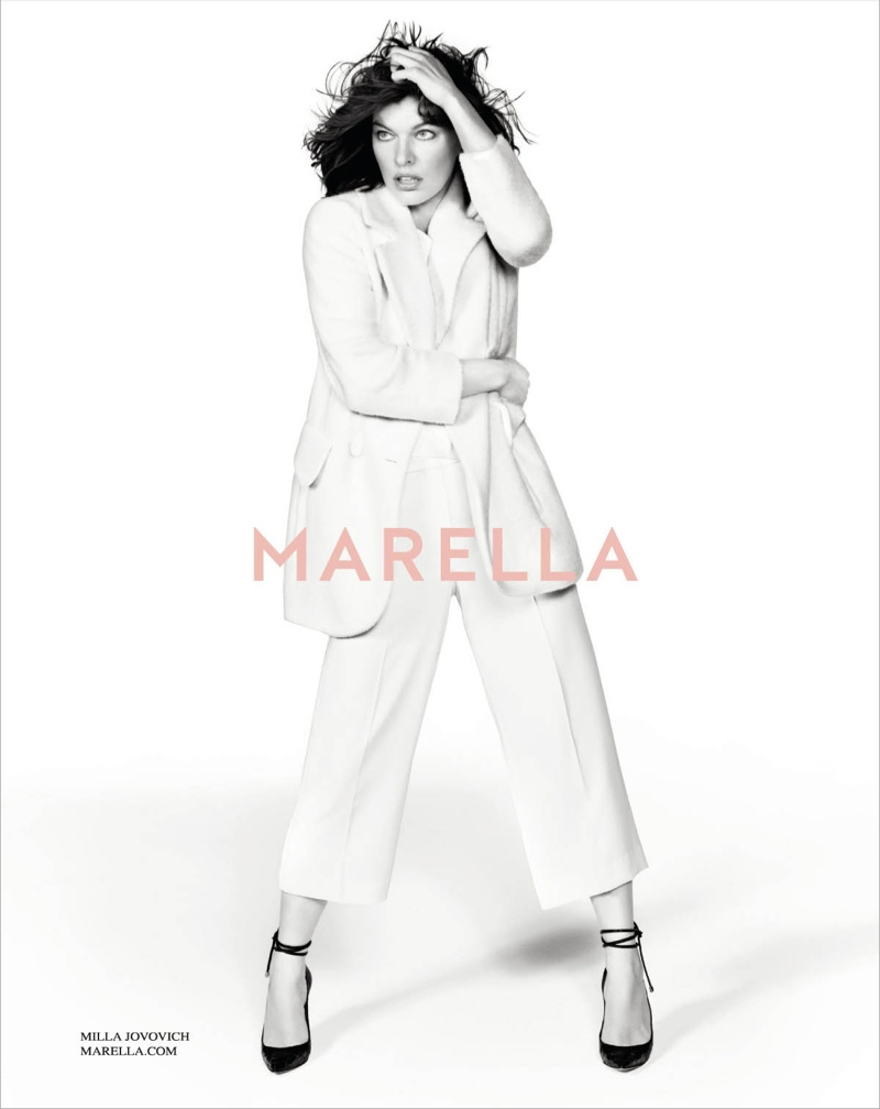 marella fall winter 2014 campaign milla jovovich7 Milla Jovovich Gets Arty for Marella's Fall 2014 Campaign