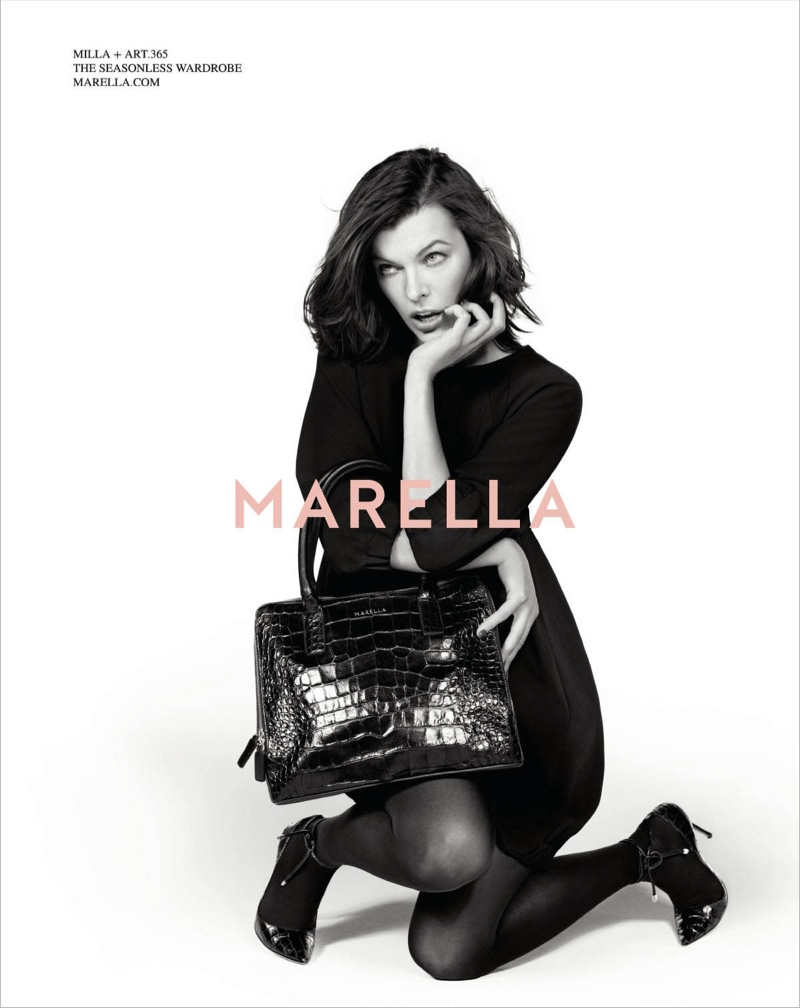 marella fall winter 2014 campaign milla jovovich8 Milla Jovovich Gets Arty for Marella's Fall 2014 Campaign
