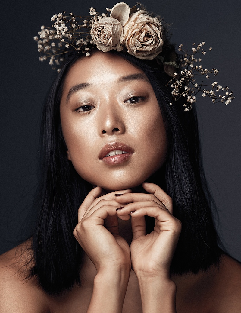 margaret zhang model4 Margaret Zhang Wears Summer Black for Elle.com