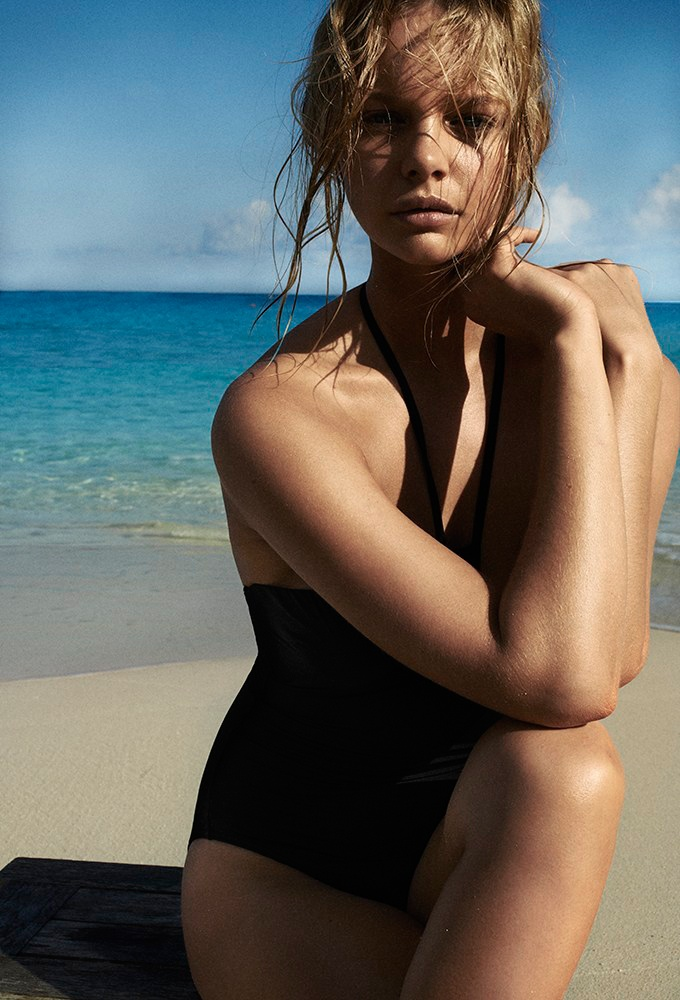 marloes horst swimsuit shoot 2014 4 Swimsuit Clad Marloes Horst Poses for David Slijper in Bazaar UK Spread