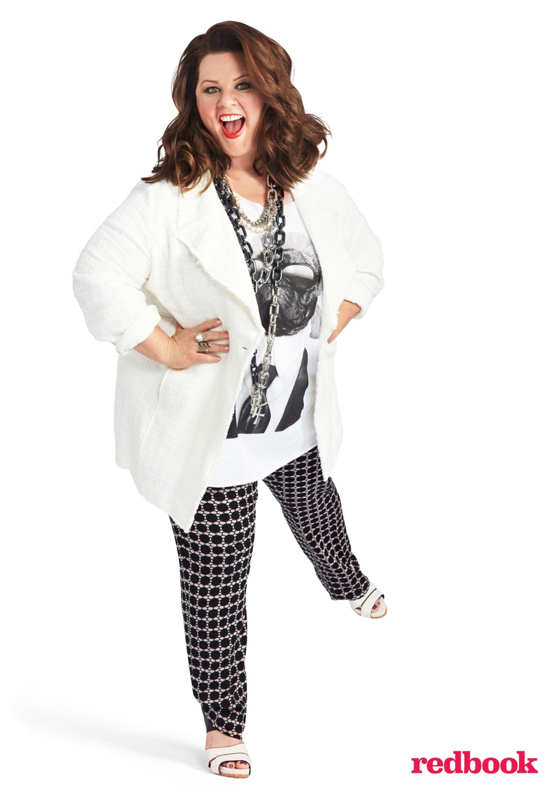 melissa mccarthy photo shoot 2014 3 Melissa McCarthy Poses for Redbook, Reveals Why She Started Plus Size Clothing Line