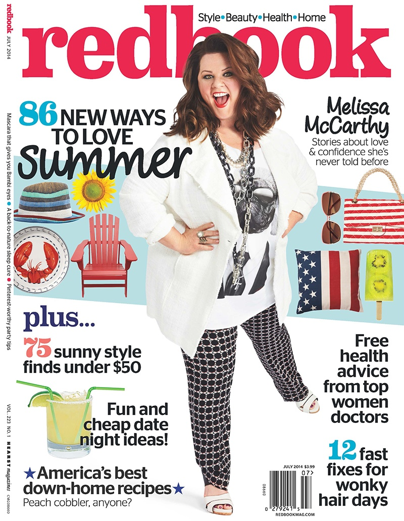 melissa mccarthy photo shoot 2014 4 Melissa McCarthy Poses for Redbook, Reveals Why She Started Plus Size Clothing Line