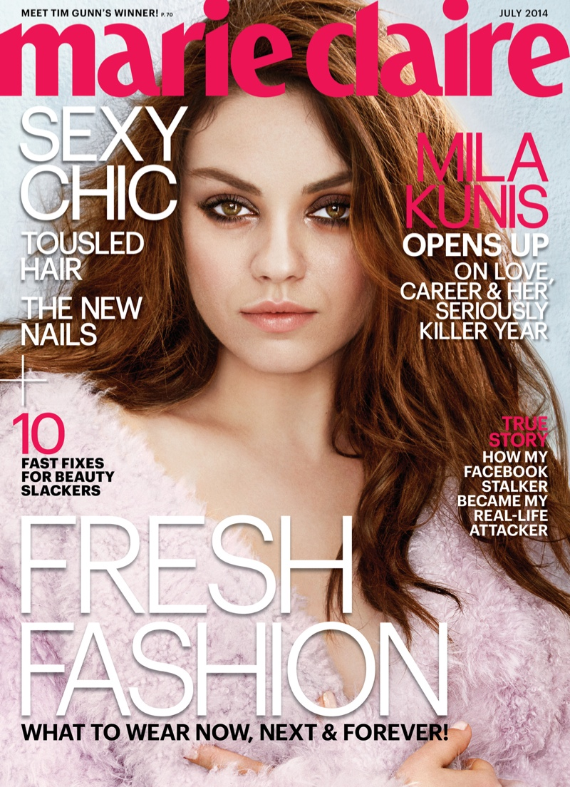 mila kunis 2014 photos4 Mila Kunis Stars in Marie Claire, Talks Giving Birth & Ashton Kutcher