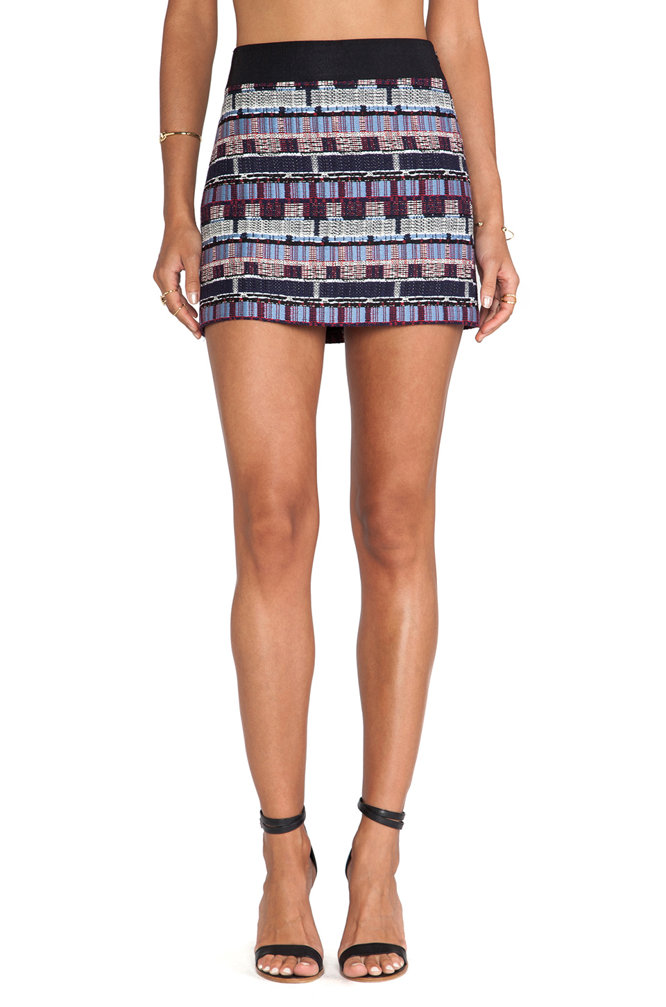 MINI MOMENT: Milly Couture Tweed Mini Skirt available at Revolve Clothing for $220.00