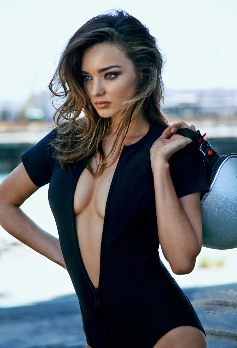 miranda kerr bike edit photos2 Miranda Kerr Poses for The Edit, Doesnt Define Herself as a Model