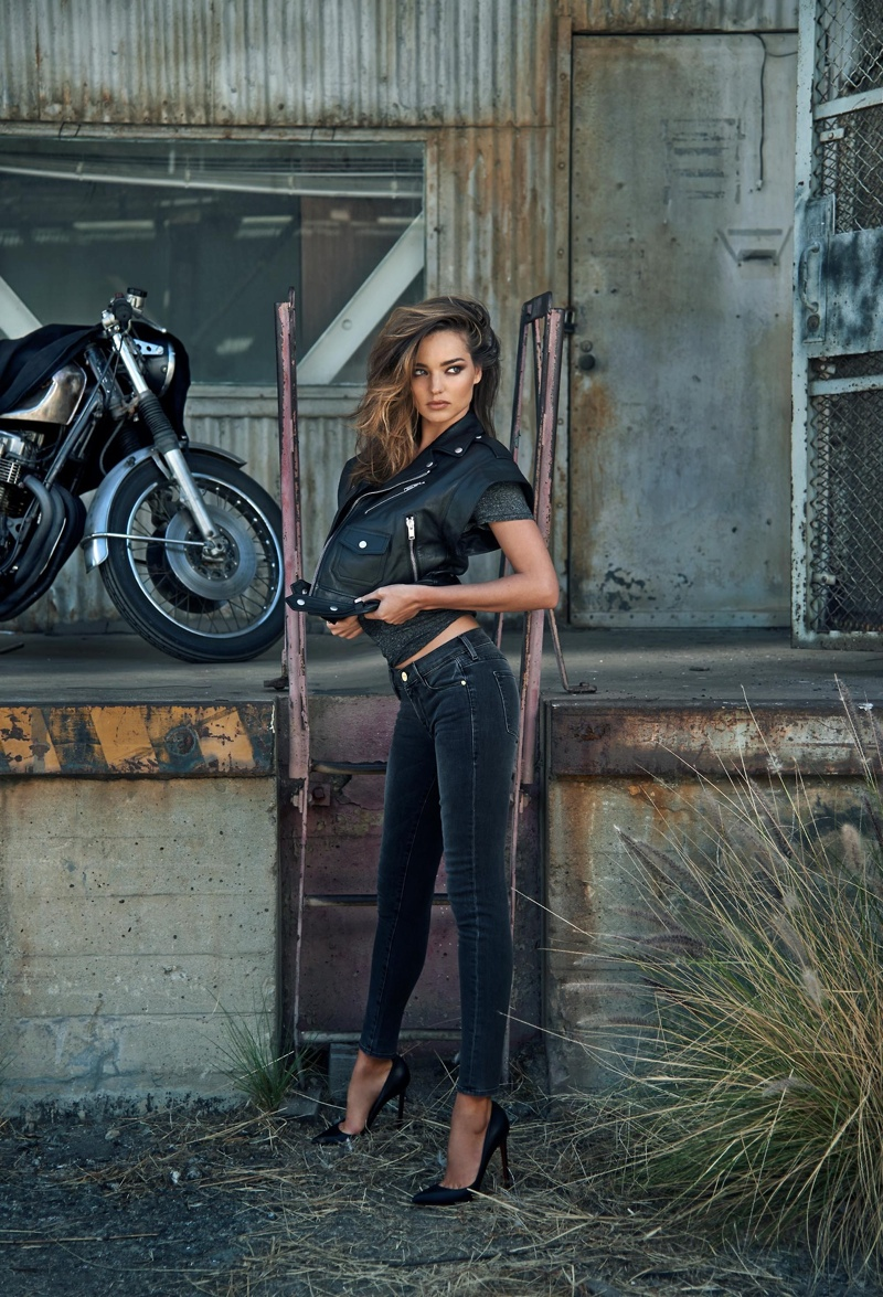 miranda kerr bike edit photos3 Miranda Kerr Poses for The Edit, Doesnt Define Herself as a Model