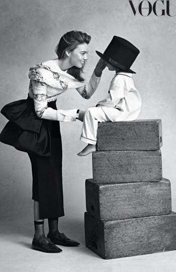 Miranda Kerr, Son Flynn Charm in Vogue Australia Photo Shoot