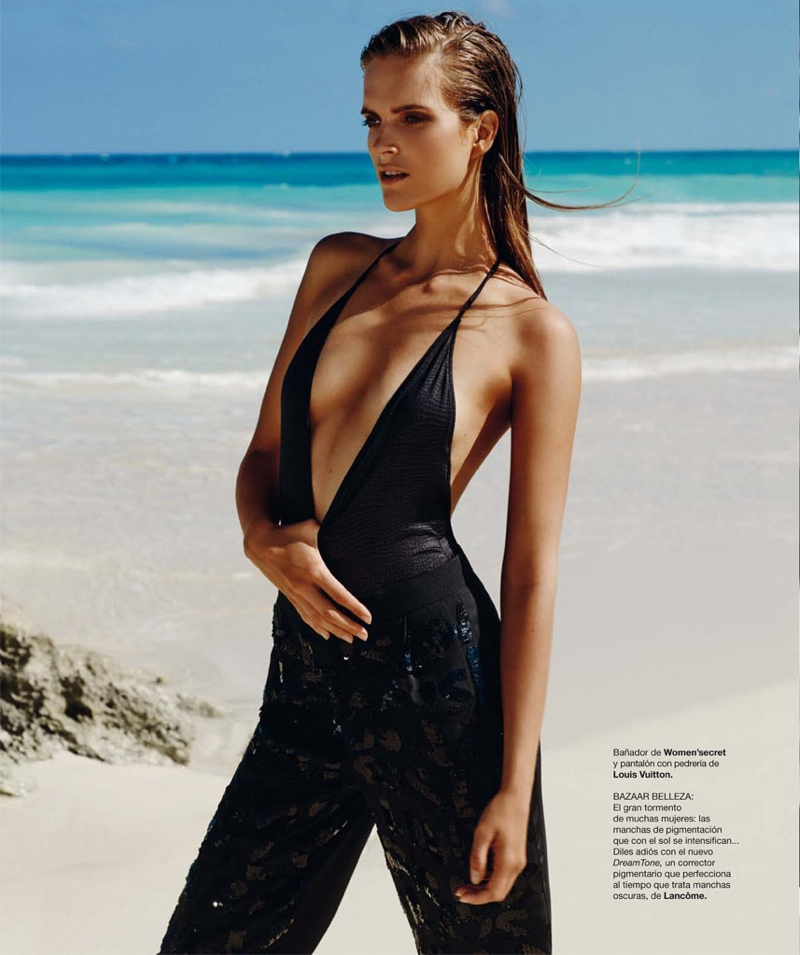 mirte maas david roemer1 Mirte Maas in Beach Style for Bazaar Spain by David Roemer