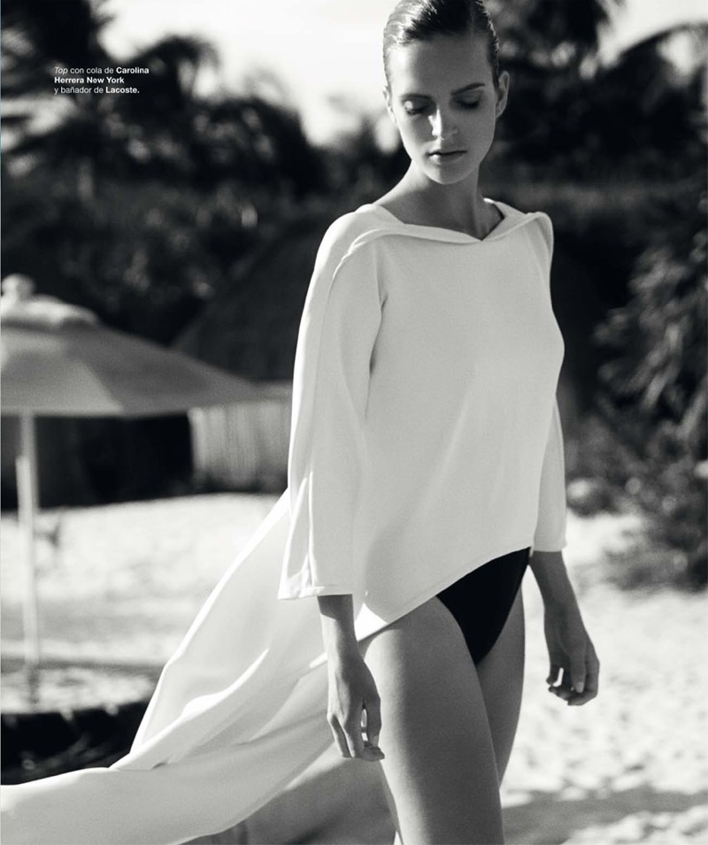 mirte maas david roemer2 Mirte Maas in Beach Style for Bazaar Spain by David Roemer