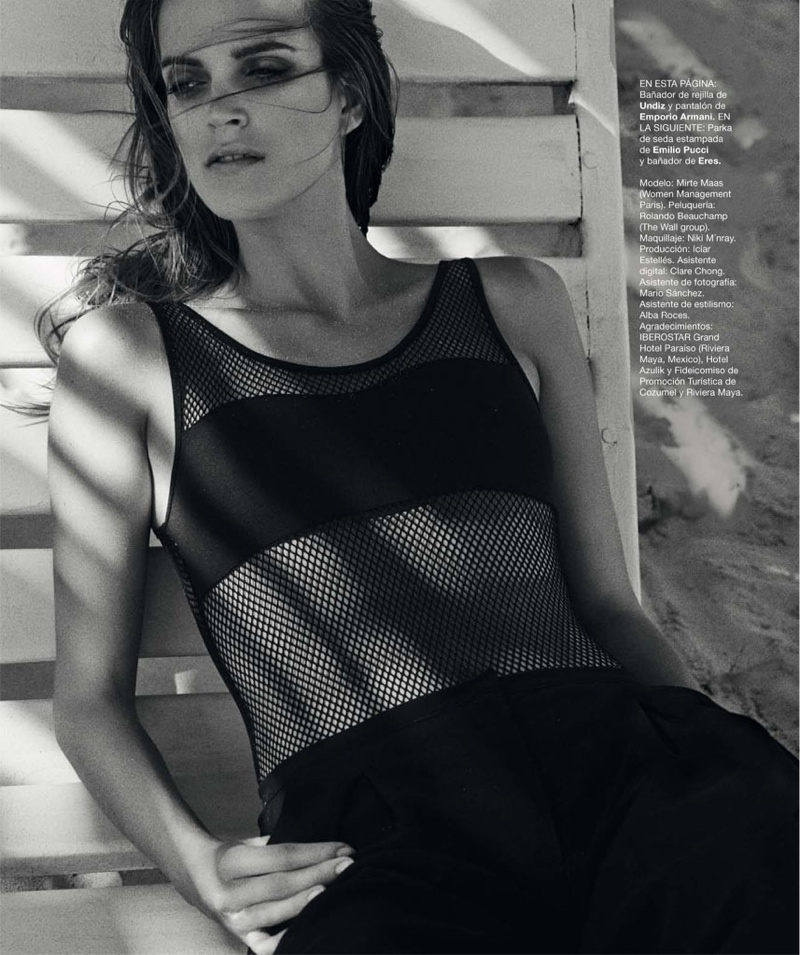 mirte maas david roemer7 Mirte Maas in Beach Style for Bazaar Spain by David Roemer