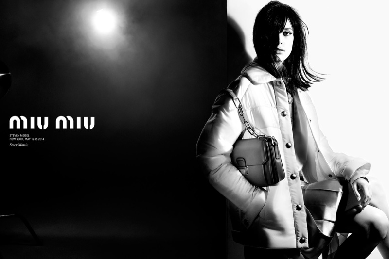 miu miu fall winter 2014 campaign1 Miu Miu Goes 60s Warhol for Fall 2014 Campaign with Stacy Martin