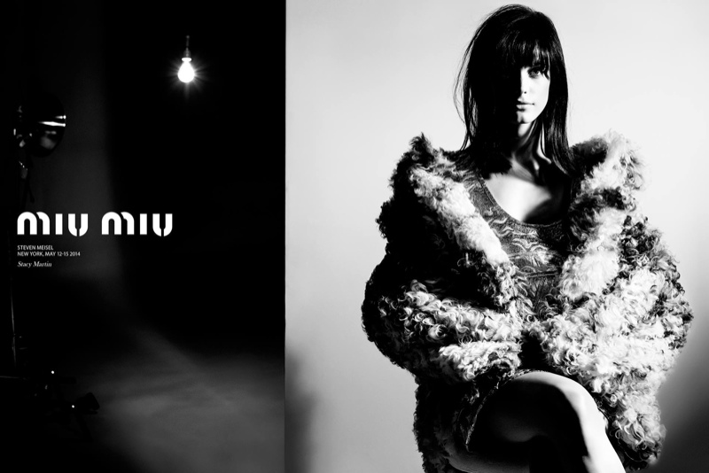 miu miu fall winter 2014 campaign3 Miu Miu Goes 60s Warhol for Fall 2014 Campaign with Stacy Martin