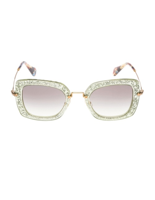 miu miu glitter sunglasses1 Miu Miu Brings the Glam with its Glitter Sunglasses Collection