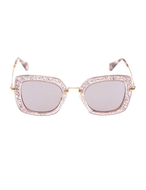 miu miu glitter sunglasses2 Miu Miu Brings the Glam with its Glitter Sunglasses Collection