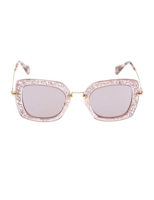 miu miu glitter sunglasses2 Miu Miu Brings the Glam with its Glitter Sunglasses Collection