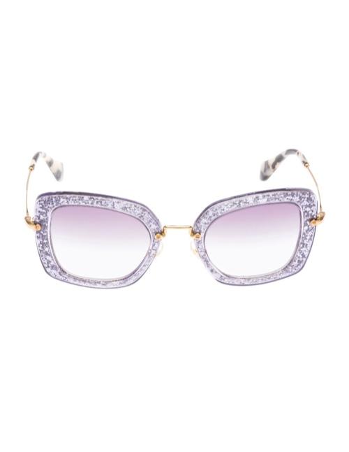 miu miu glitter sunglasses3 Miu Miu Brings the Glam with its Glitter Sunglasses Collection