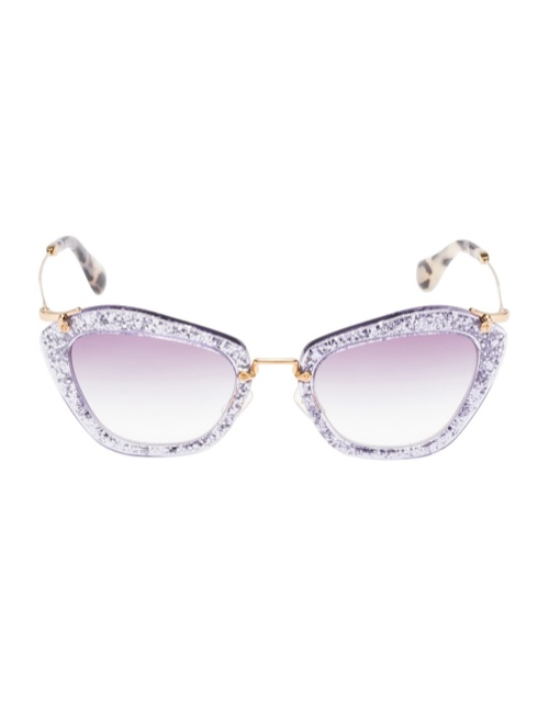 miu miu glitter sunglasses6 Miu Miu Brings the Glam with its Glitter Sunglasses Collection