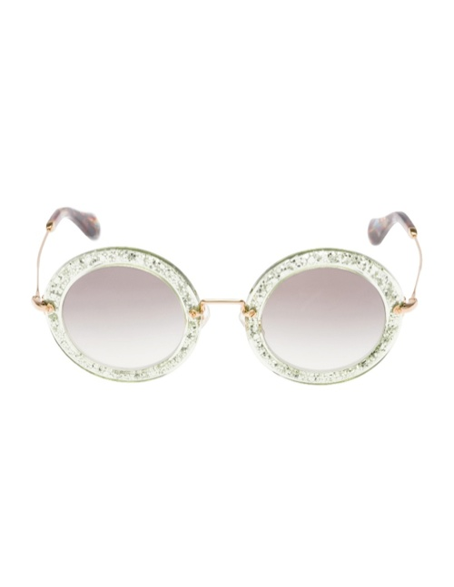 miu miu glitter sunglasses7 Miu Miu Brings the Glam with its Glitter Sunglasses Collection