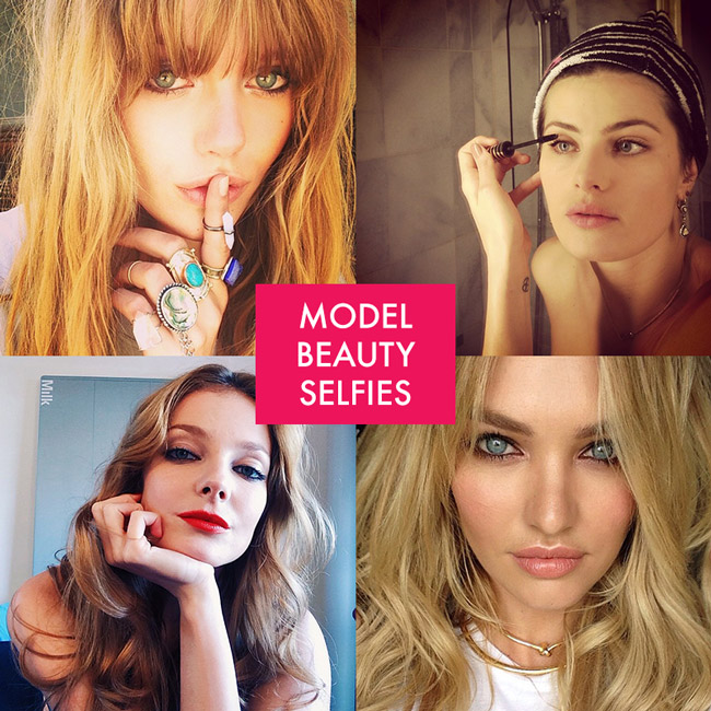 model beauty selfies Pretty Faces: 15 Model Beauty Selfies