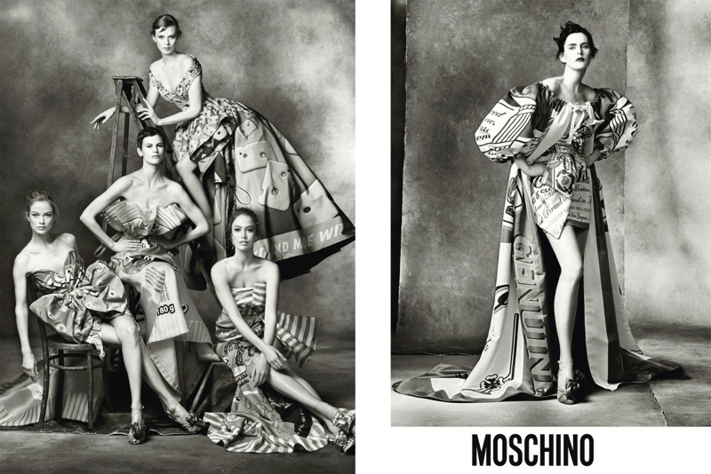 moschino fall 2014 ads photos2 More Photos of Moschino's Fall 2014 Campaign with Carolyn, Karen, Raquel, Stella, Saskia + Linda