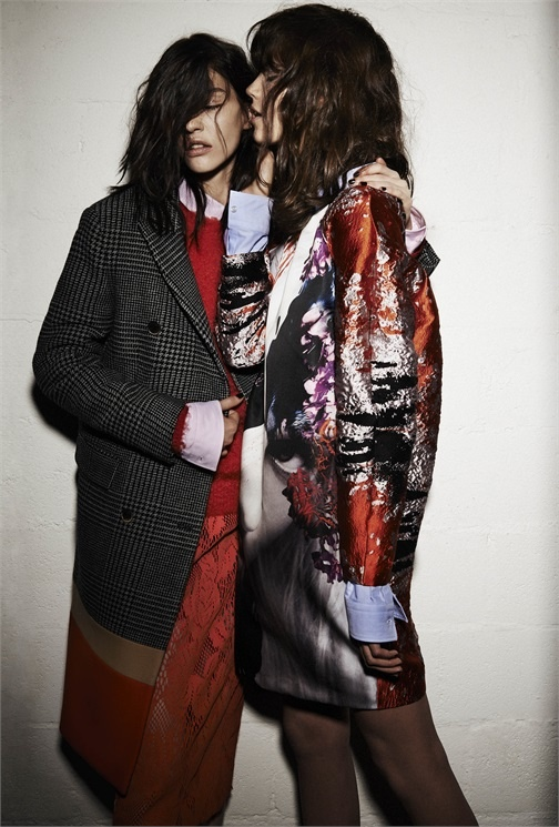 msgm lesbian fall 2014 campaign5 MSGM's Fall 2014 Campaign Features Lesbian Pairing with Antonina & Kate B.