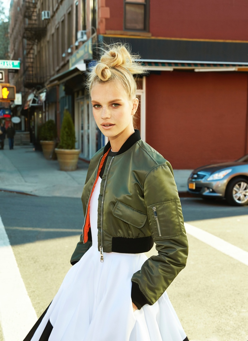 Nadine Leopold Models the Best of City Girl Style for Cosmopolitan