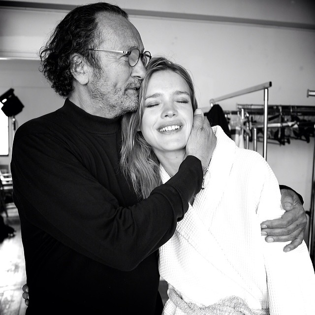 (Left) Paolo Roversi photographed Natalia Vodianova for the special birthday image