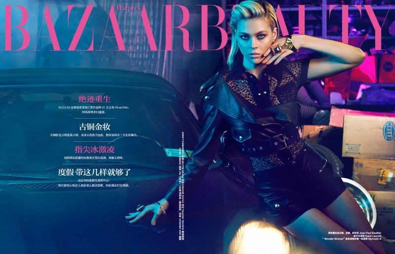 "nicola peltz photo shoot1 ""Transformers"" Star Nicola Peltz in Bazaar China by Max Abadian"
