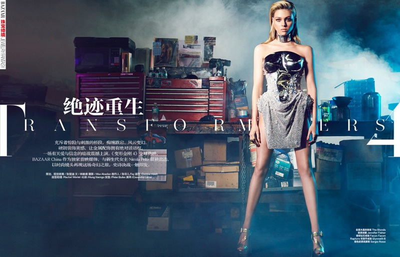 "nicola peltz photo shoot2 ""Transformers"" Star Nicola Peltz in Bazaar China by Max Abadian"