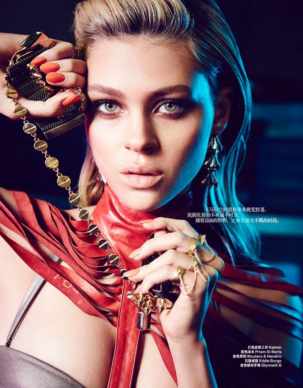 "nicola peltz photo shoot4 ""Transformers"" Star Nicola Peltz in Bazaar China by Max Abadian"
