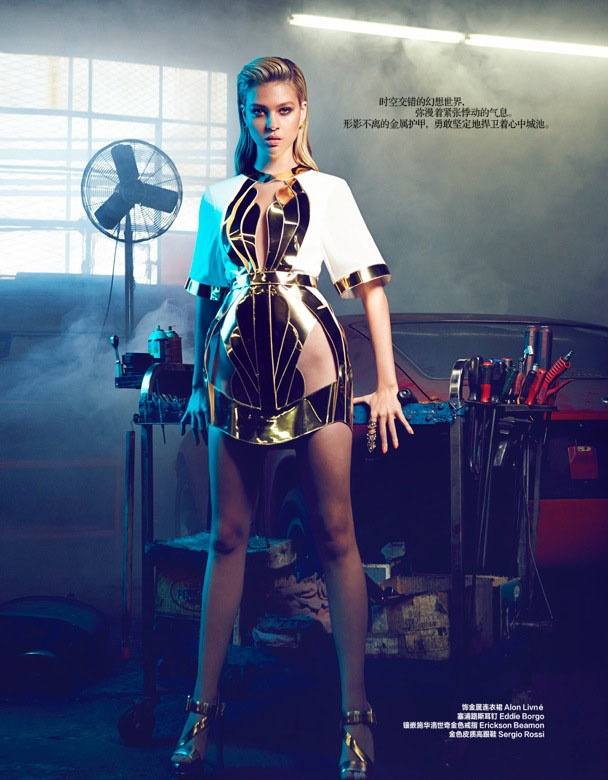 "nicola peltz photo shoot5 ""Transformers"" Star Nicola Peltz in Bazaar China by Max Abadian"