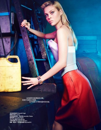"""Transformers"" Star Nicola Peltz in Bazaar China by Max Abadian"