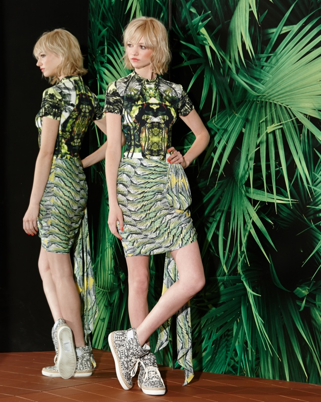 nicole miller resort 2015 photos3 Nicole Miller Transforms the Hawaiian Shirt for Resort 2015 Collection