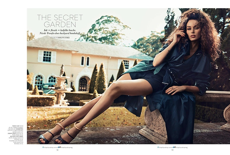 nicole trunfio model 2014 1 Nicole Trunfio Models Seductive Style for SHOP Australia