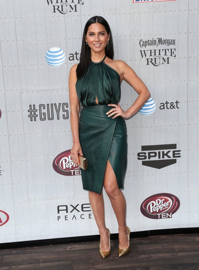 Olivia Munn donned a green J. Mendel look