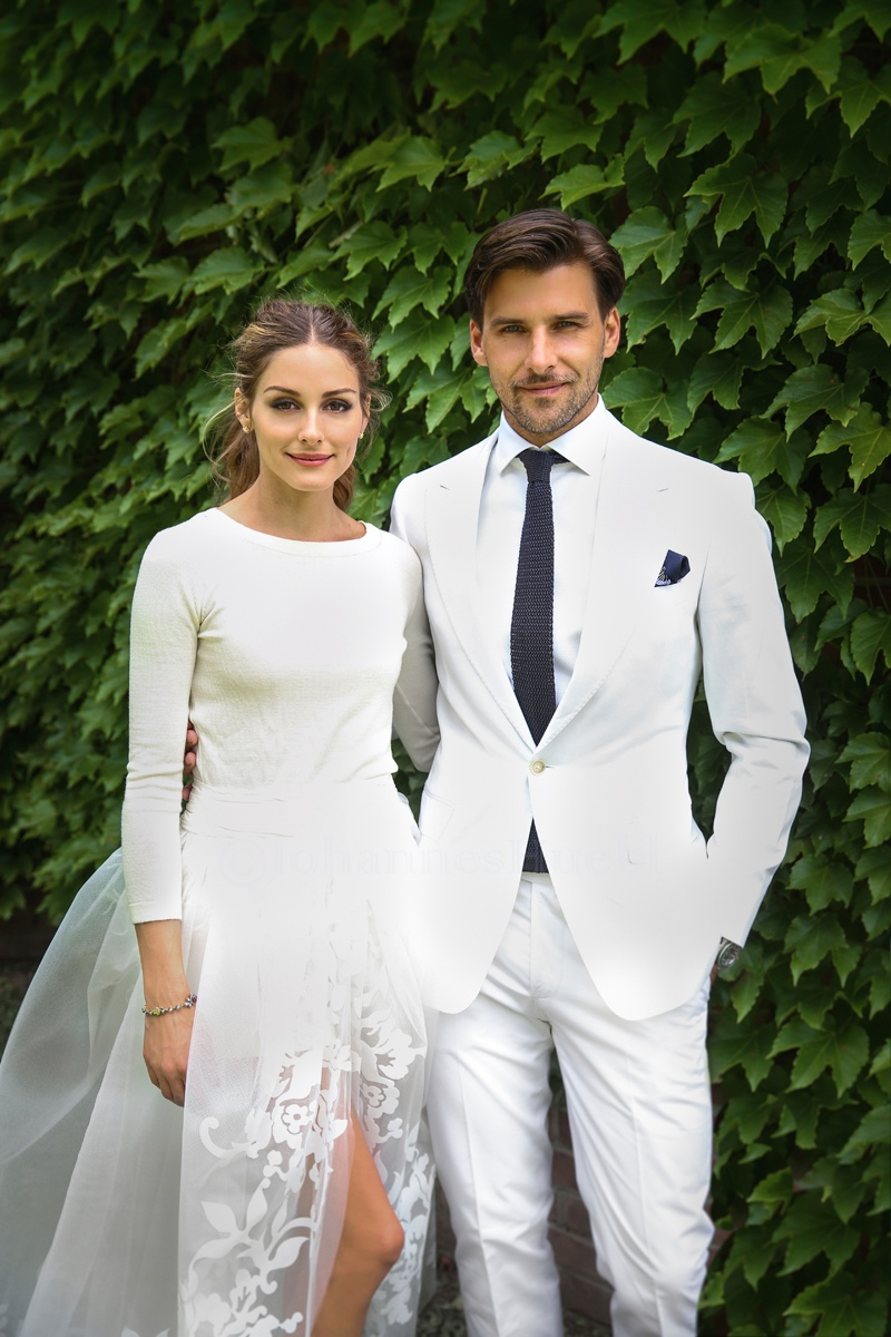 olivia palermo wedding dress photos1 Chic Bride! Olivia Palermo Wears Carolina Herrera Wedding Look